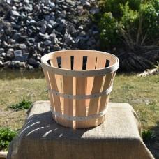 1/2 Bushel Wooden Basket